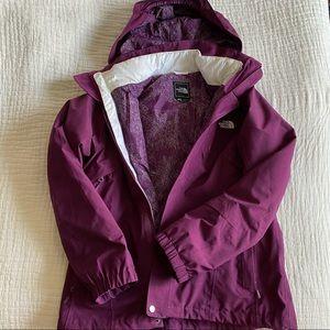 The North Face, winter ski jacket, size large.